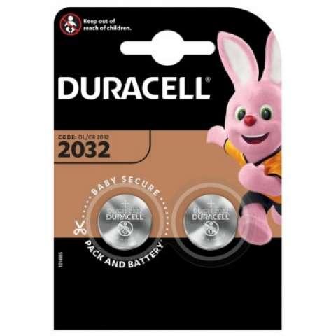 DURACELL DL2032 / CR2032 knapcelle batteri (2 stk.)