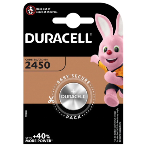 DURACELL DL2450 / CR2450 knapcelle batteri (1 stk.)