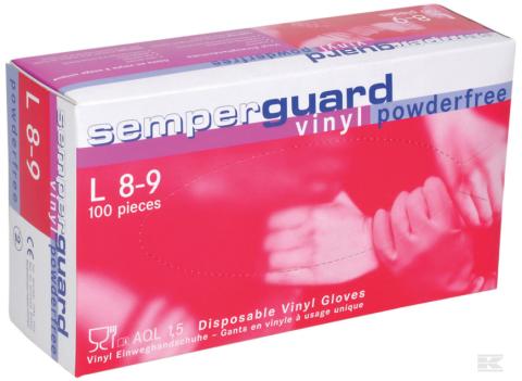 SemperGuard Vinyl engangshandske - 90/100 Stk